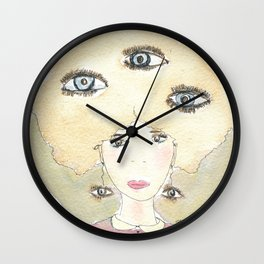 See thoughts with different eyes Wall Clock