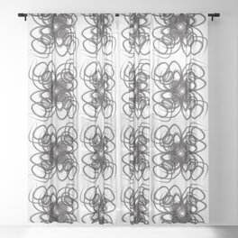 Curve3 Black and White Sheer Curtain