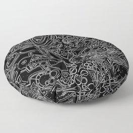 White/Black #1 Floor Pillow