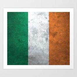 Distressed Irish Flag Art Print