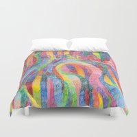 queer Duvet Covers featuring queer rainbows by ElenaM