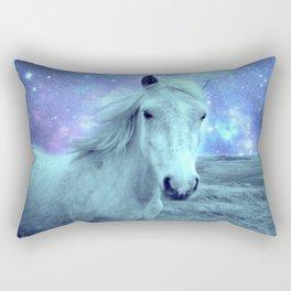 Celestial Dreams Horse Periwinkle Lavender Aqua Rectangular Pillow