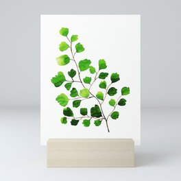 Maidenhair fern watercolor Mini Art Print