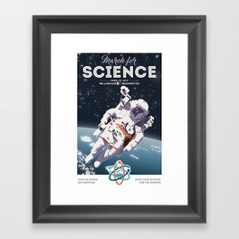 March For Science Series : Astronomy Framed Art Print