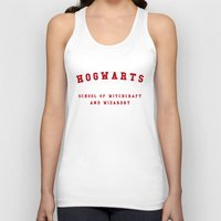 hogwarts Tank Tops featuring Hogwarts by Fabian Bross