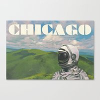 chicago Canvas Prints featuring Chicago by Scott Listfield