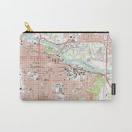 Vintage Map of Eugene Oregon (1967) Carry-All Pouch