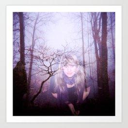 """Lookout"" - Double Exposure Holga photograph Art Print"