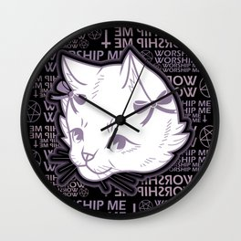 WORSHIP ME Wall Clock