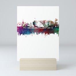 Thessaloniki skyline city blue #thesaloniki Mini Art Print