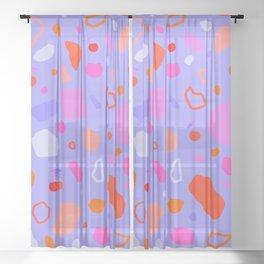 Sweet Terrazzo Cherries Sheer Curtain