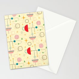Atomic pattern umbrellas   #midcenturymodern Stationery Cards