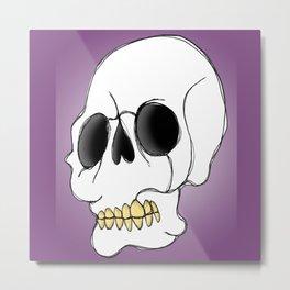 Skull - Side View Metal Print