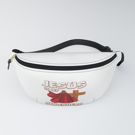 Funny Super Hero Jesus Christ Priest Quote Gift Fanny Pack