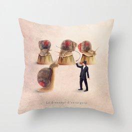 The snail tamer Throw Pillow