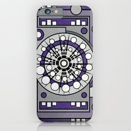 Unit 635 - Ultra Violet Geometric Digital Abstract iPhone Case