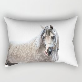 horse collection. arabian grey Rectangular Pillow