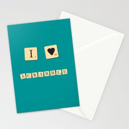 I heart Scrabble Stationery Cards