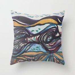 Leda and black swan Throw Pillow