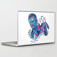 daryl dixon Laptop & iPad Skins featuring Daryl Dixon // OUT/CAST by Largetosti