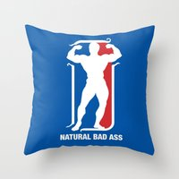 nba Throw Pillows featuring NBA by Free Specie