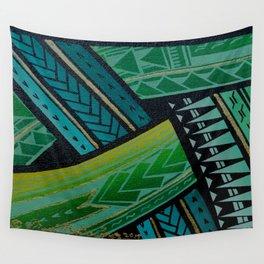 Green Tatau Wall Tapestry