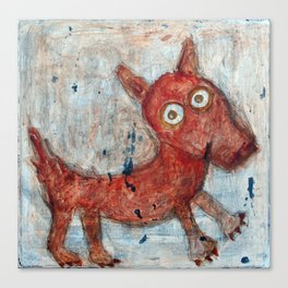 Scotty - Abstract playful fun dog Canvas Print
