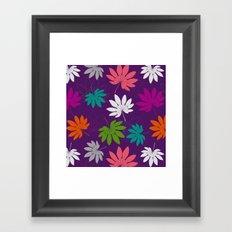 Purple tropical leaves Framed Art Print