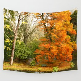 Willow in Autumn colors Wall Tapestry