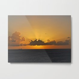 The Sun Sets Metal Print