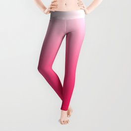 White and Warm Pink Gradient 045 Leggings