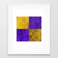 lakers Framed Art Prints featuring LA-kers by Ramo