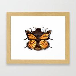 Butterfly Ladybug Framed Art Print