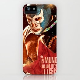 Wrestling fighter world iPhone Case