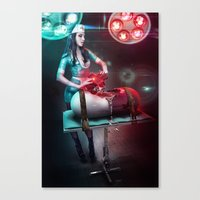 nurse Canvas Prints featuring Nurse by Robert Palmer