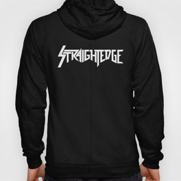 Straight Edge Metal Logo Hoody