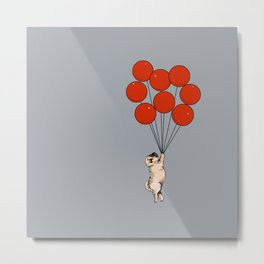 I Believe I Can Fly Pug Metal Print