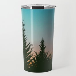TREES - SUNSET - SUNRISE - SKY - COLOR - FOREST - PHOTOGRAPHY Travel Mug