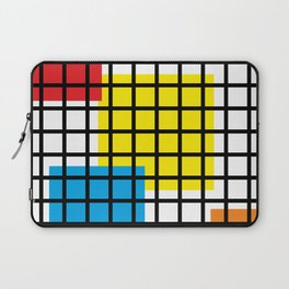 Modern geometric background, red, yellow, green,orange and blue  #society6 #decor #buyart #artprint Laptop Sleeve