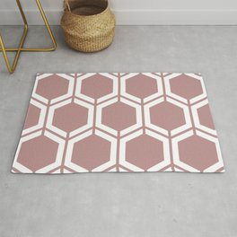 Rosy brown - violet - Geometric Polygon Pattern Rug