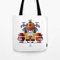 aquarius Tote Bags featuring AQUARIUS by Angelo Cerantola