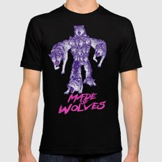 Made Of Wolves Black 2X-LARGE Mens Fitted Tee