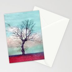 ATMOSPHERIC TREE | Longing for spring Stationery Cards