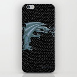 Dragon Letter F, from Dracoserific, a font full of Dragons. iPhone Skin