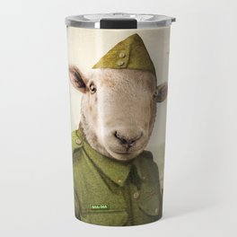 Private Leonard Lamb visits Paris Travel Mug