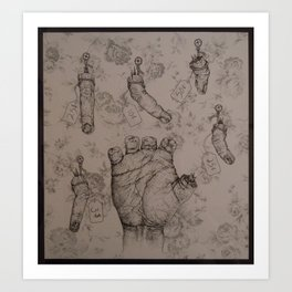 Death by Severed Fingers Art Print