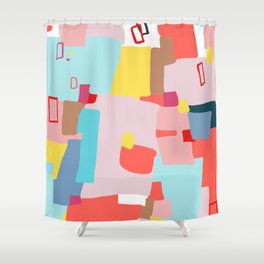 Windows of Possibility #abstractart #painting Shower Curtain