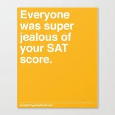 SAT Score Canvas Print