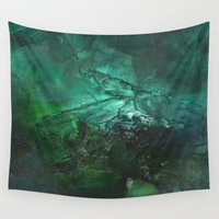 emerald Wall Tapestries featuring Emerald by Judy Applegarth