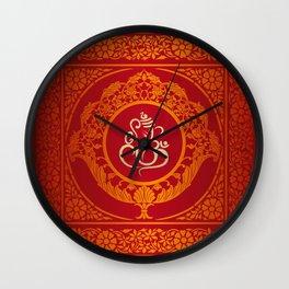 Hindu Elephant Pattern (Shree Ganesh) Wall Clock